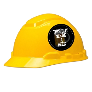 This Guy Needs A Beer Hard Hat Helmet Sticker